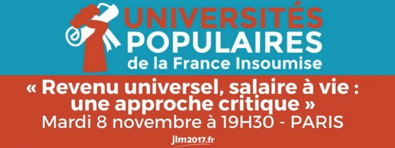 Université Populaire 5, avec Michel Husson