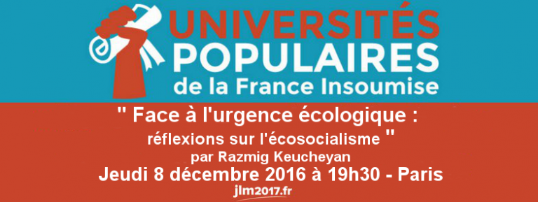Univ Pop 7 : écosocialisme