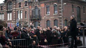 melenchon verdadero candidato de la Izquierda irrumpe en Tourcoing