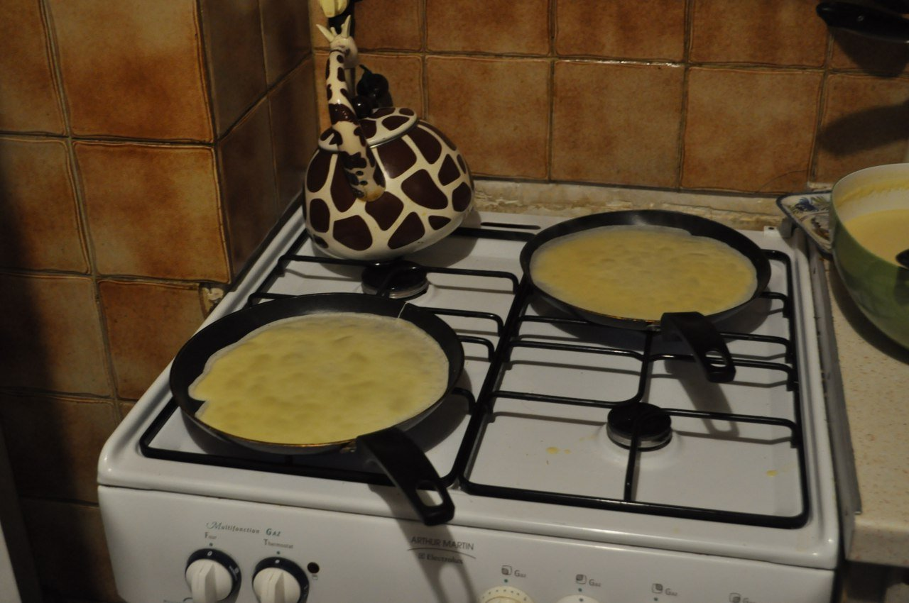 crepes cuisson