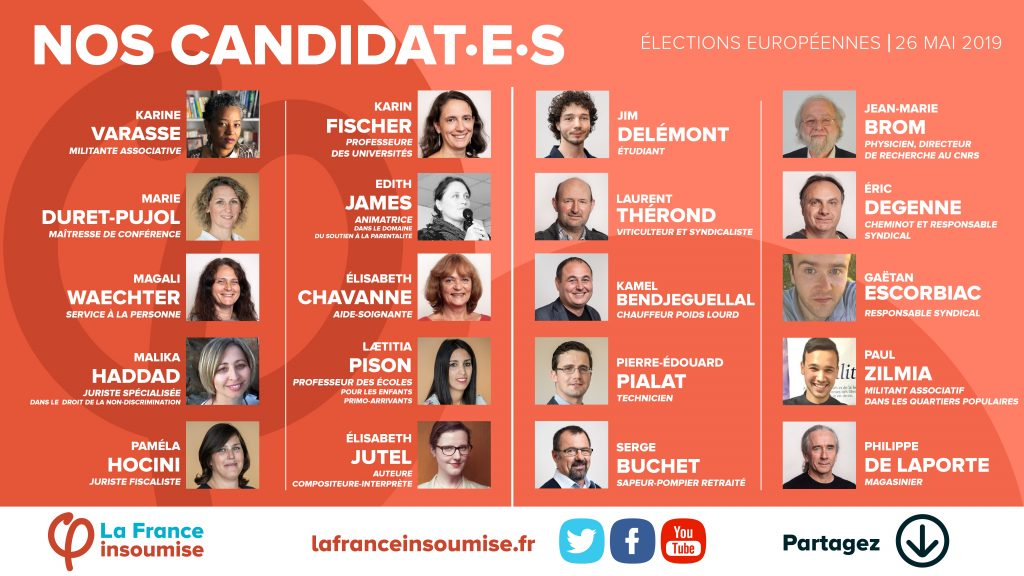 candidats europeennes