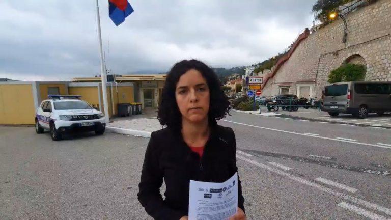 Manon Aubry à Menton