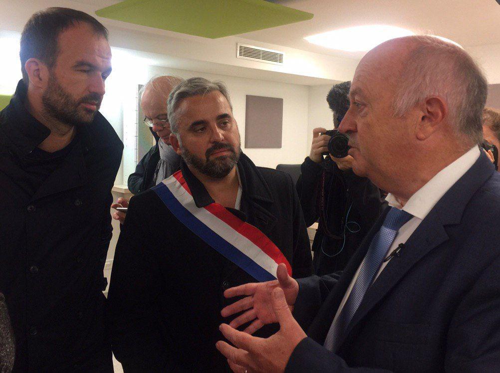 Alexis Corbière, Manuel Bompard et Daniel Clueff