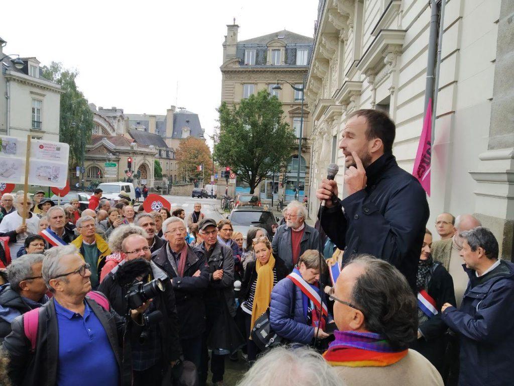 Intervention de Manuel Bompard lors du rassemblement à Rennes en soutien de Daniel Clueff