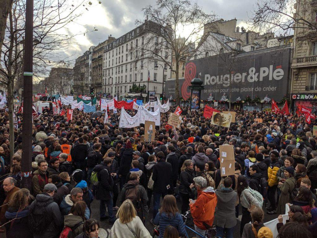 Manifestation 17 décembre Paris 6